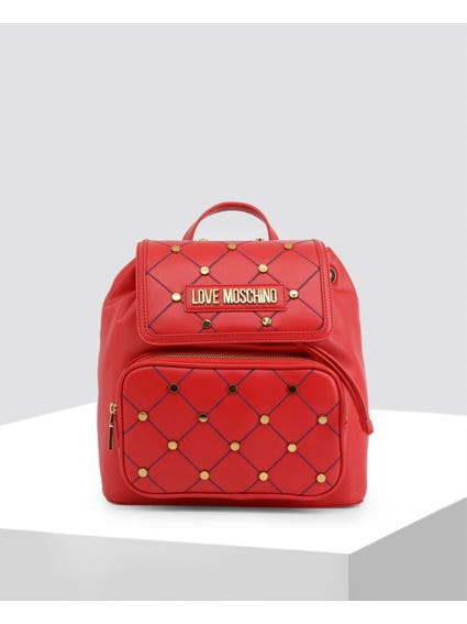 Red Cross Studded Backpack