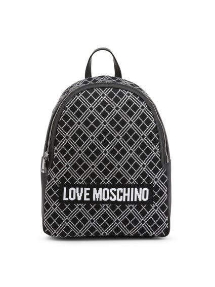 Zip Love Print Backpack