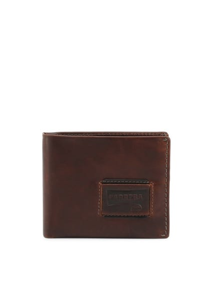 Brown Embossed Logo Bi Fold Wallet