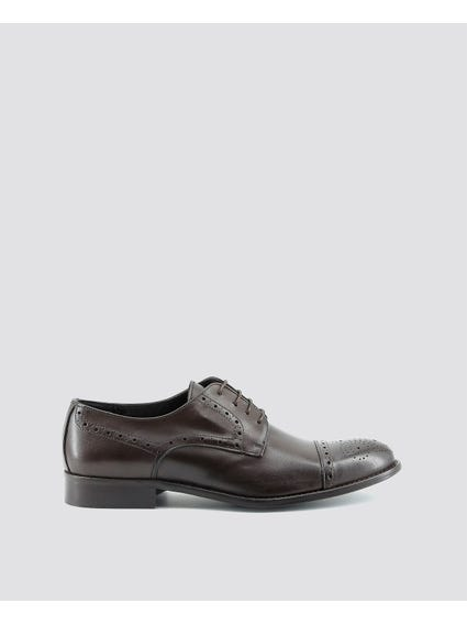 Brown Giorgio Laser Cut Brogue Shoes