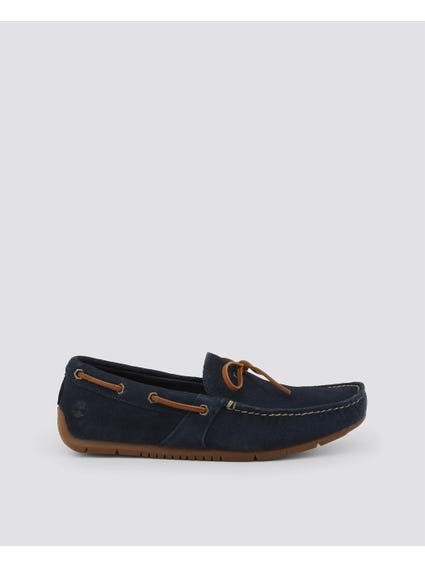 Navy Lemans Lace Moccasins