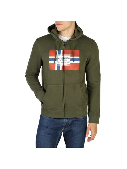 Green Bera Hooded Zip Sweatshirt