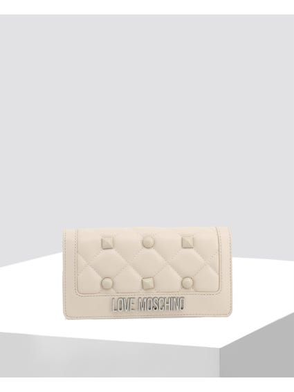White Quilted Clutch Bag