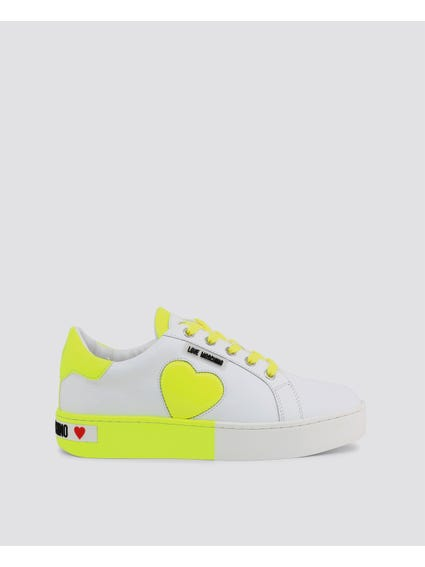 Yellow Patched Low Top Sneakers