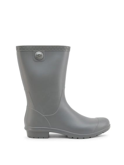 Grey Rubber Slip On Boots