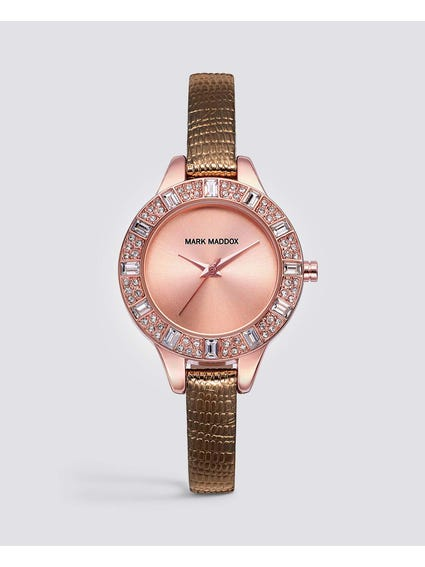 Rose Gold Stainless Steel Case