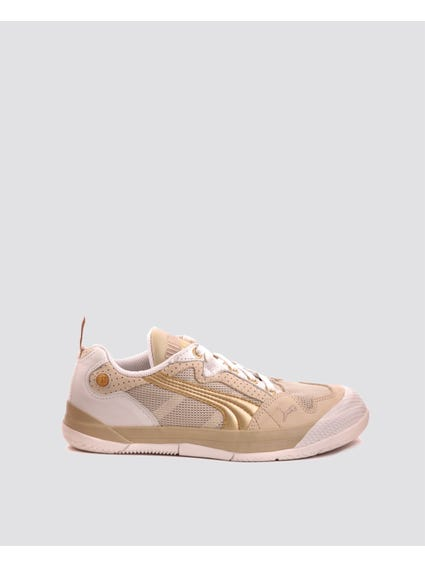 Gold Chic Mesh Sneakers
