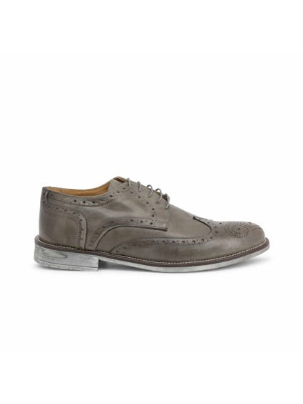 Grey Crust Brogue Lace Up Shoes