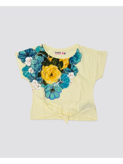 Yellow Floral Kids Top