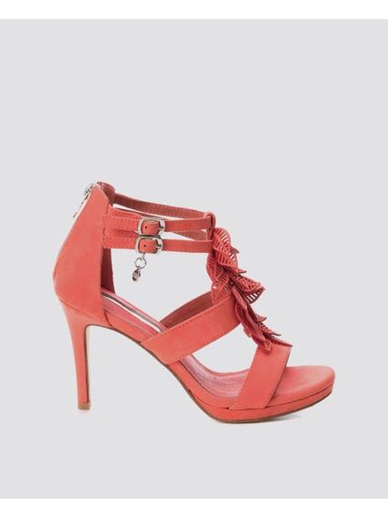 Coral Ankle Strap High Heel Sandals