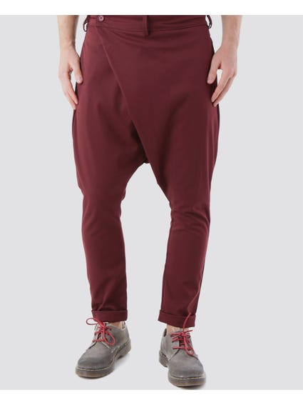 Burgundy Button Side Trouser