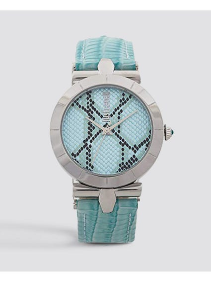 Ice Blue Dial Leather Watch