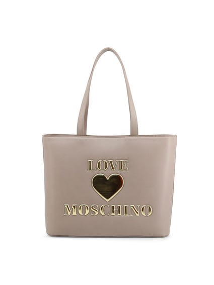 Grey Two Handle Shopping Bag