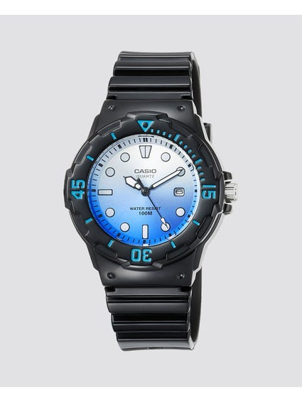 Blue White Dial Analog Watch