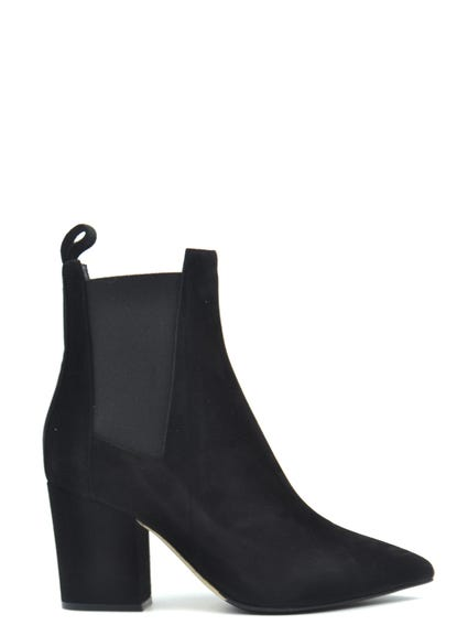 Pointed Toe Elastic Ankle Boots