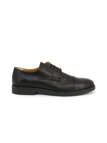 Black Crust Leather Lace Up Shoes