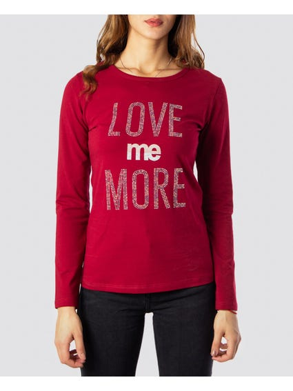 Love Me More Printed T-Shirt