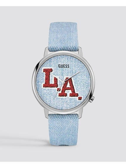 L.A. Originals Denim Dial Watch