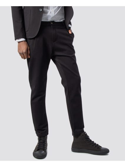 Black Plain Suit Trouser