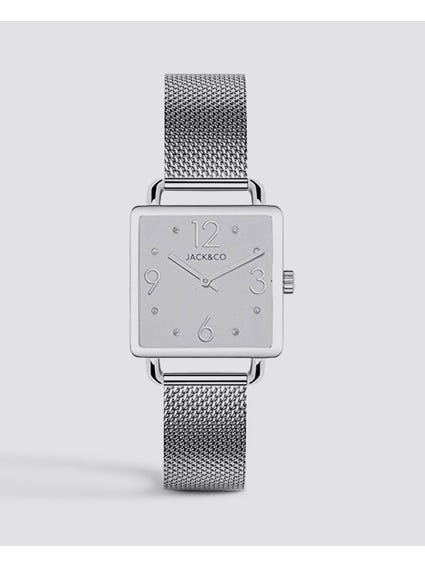 White Dial Rectangular Watch