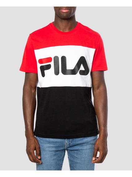Red Multi Logo Print T-shirt