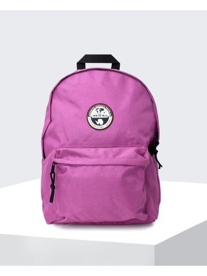 Pink Logo Patch Backpack