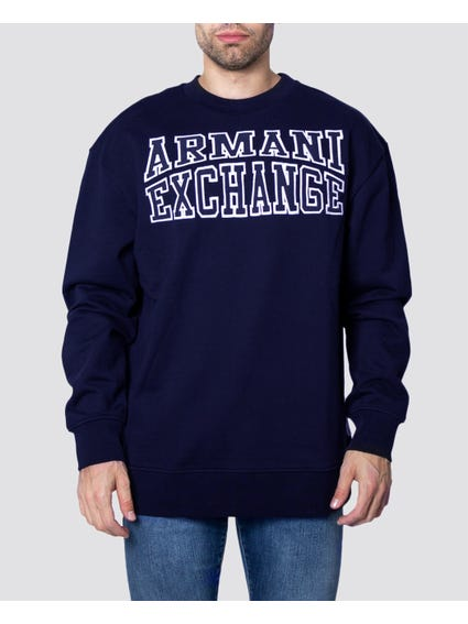 Blue Two Tone Print Sweatshirt