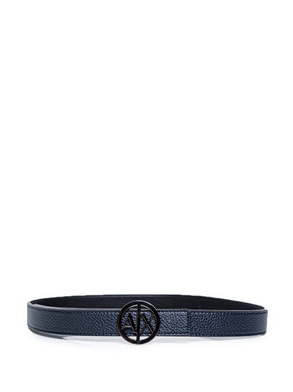 Leather Pattern Logo Belt