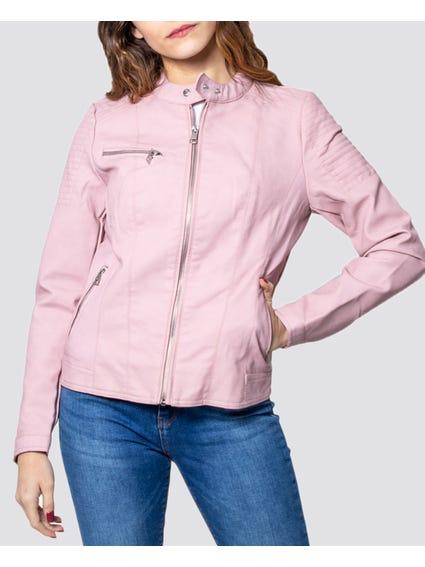 Lilac Zip Pockets Jacket