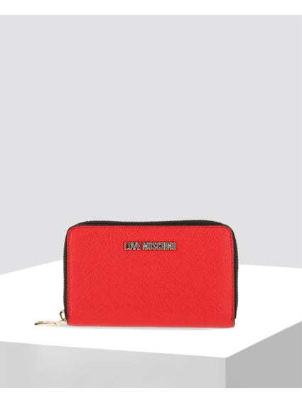 Red Casual Leather Wallet