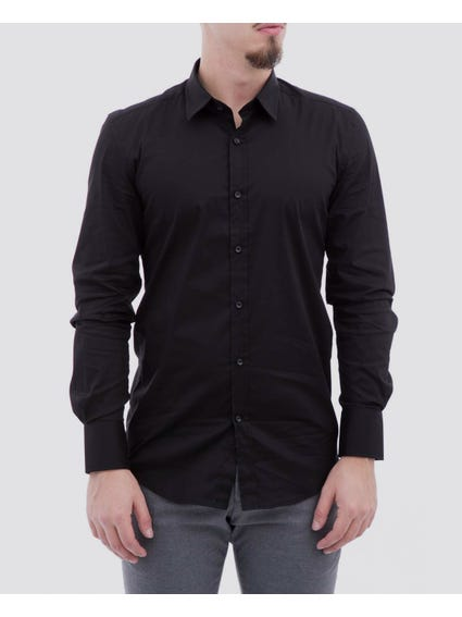 Black Classic Long Sleeves Shirt
