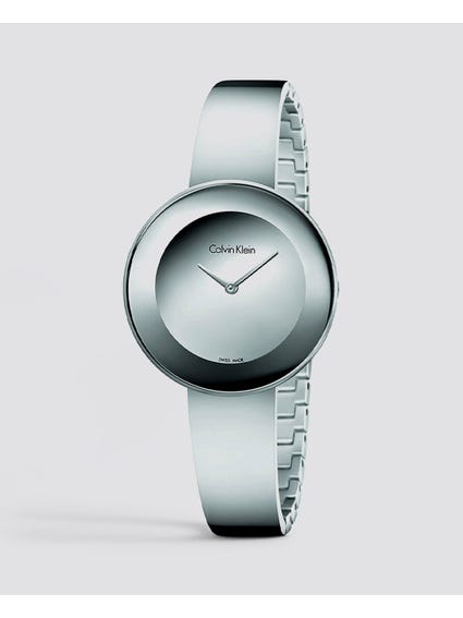 Chic Quartz Silver Dial Watch