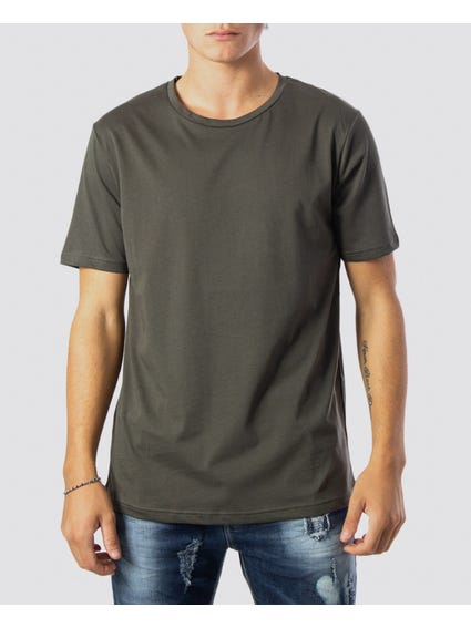 Green Basic Short Sleeves T-Shirt