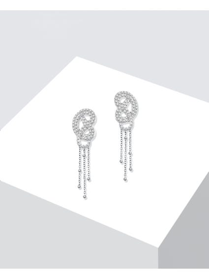 Silver Zirconia studded Earrings