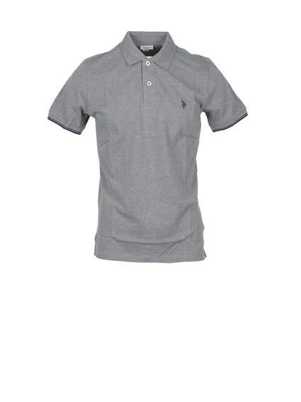 Grey Contrast Lining  Polo Shirt
