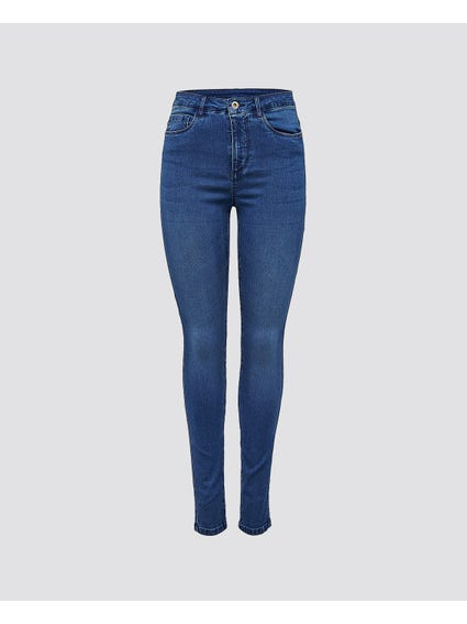 Blue Casual Denim Skinny Jeans