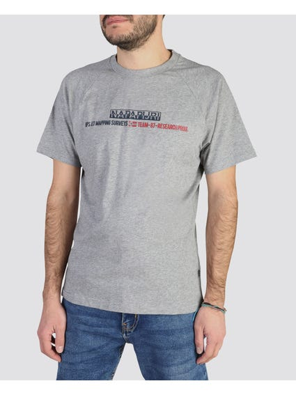 Grey Sastia Short Sleeves T-Shirt