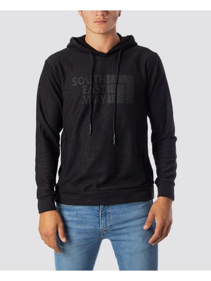 Hooded Pattern Sweatshirt
