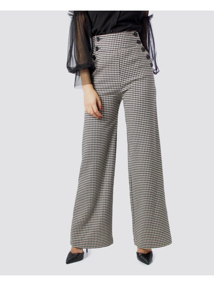 Black Button Trouser