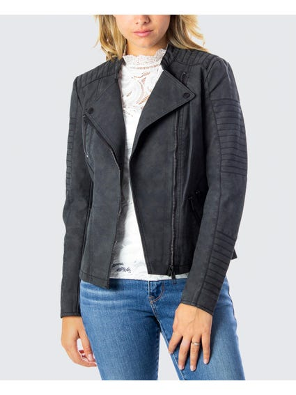 Black Quilted Sleeve Blazers