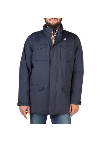 Blue Padded Zipper Jacket