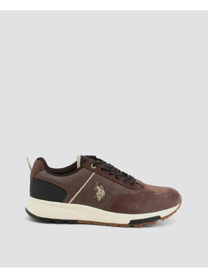 Brown Axel Diamond Pattern Sneakers