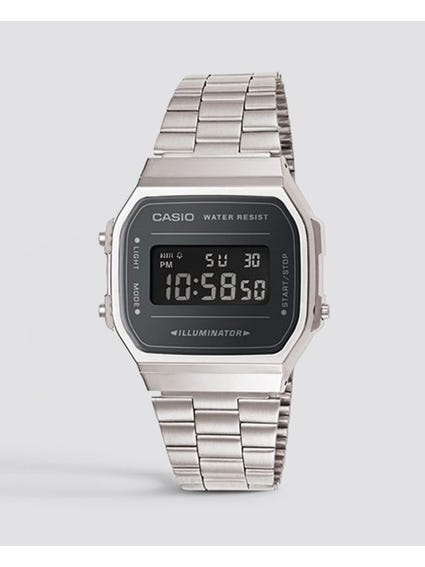 Silver Vintage Digital Watch