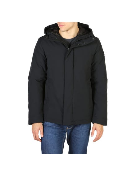 Black Button Hooded Jacket