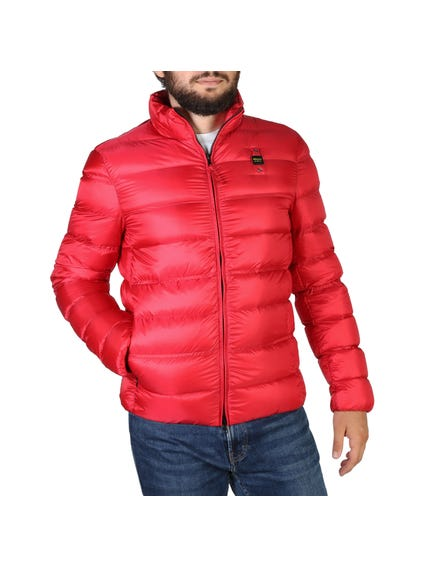 Red Padded Zipper Jacket