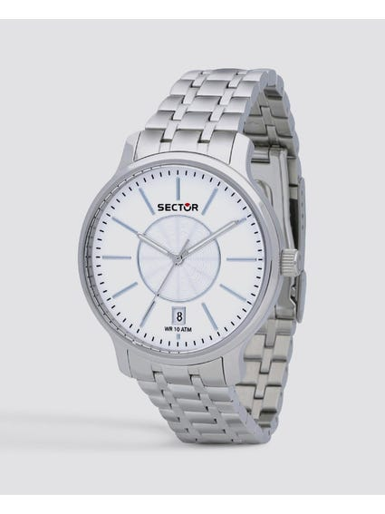 White Dial Quartz Analog Watch