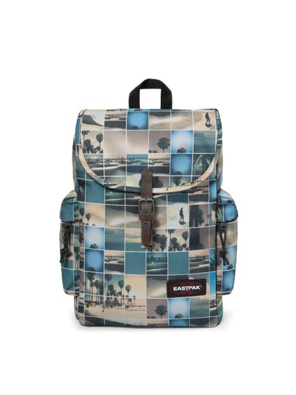 Brown Buckle Printed Backpack