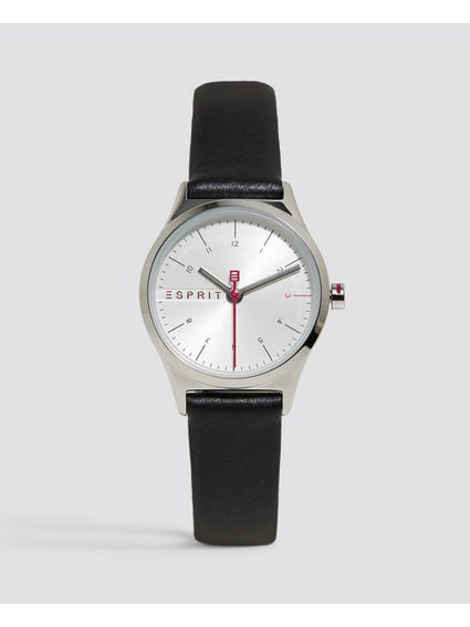Black Essential Mini Analog Watch