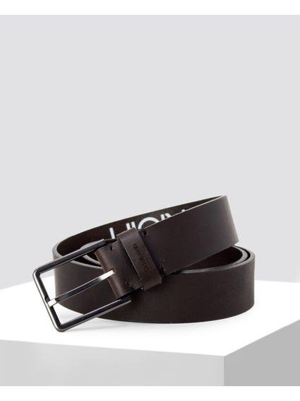 Black Branding Details Belt