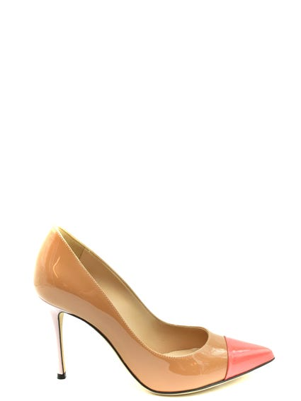 Two Tone Patent Pumps